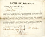 Loyalty oath of William Welker of...