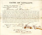 Loyalty oath of Herman A....