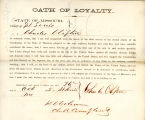 Loyalty oath of Charles Clifton...