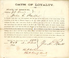 Loyalty oath of John E. Rank of...