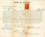 Loyalty oath of Henry J. Hinsman...