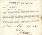 Loyalty oath of Milton H. Wash of...