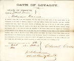 Loyalty oath of Edward Coons of...