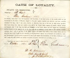 Loyalty oath of Peter Graham of...