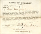 Loyalty oath of Louis Gottschalk...