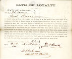 Loyalty oath of Frederick Roever...