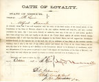 Loyalty oath of Alfred Heacock of...