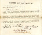 Loyalty oath of Albert Todd of...