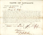 Loyalty oath of Henry L. Rathjen...