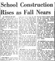 School Construction Rises as Fall...