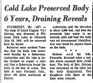 Cold Lake Preserved Body 6 Years,...