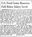 U. S. Feed Grain Reserves Fall...