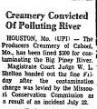 Creamery Convicted of Polluting...