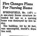 Fire Changes Plans for Nursing...