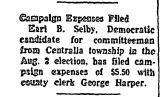 Campaign Expenses Filed