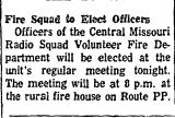 Fire Squad to Elect Officers