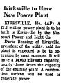 Kirksville to Have New Power Plant