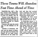 Three Towns Will Abandon Fast...
