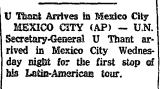 U Thant Arrives in Mexico City