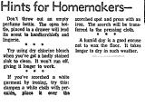 Hints for Homemakers