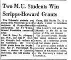 Two M. U. Students Win...