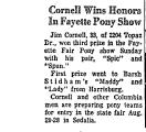 Cornell Wins Honors in Fayette...
