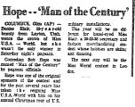 Hope-'Man of the Century'