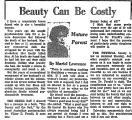 Beauty Can be Costly