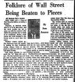 Folklore of Wall Street Being...