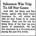 Salesmen Win Trip to All Star Game