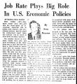 Job Rate Plays Big Role in U. S....