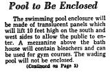 Pool to be Enclosed