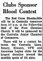 Clubs Sponsor Blood Contest