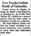 Two Trucks Collide North of...