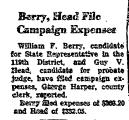 Berry, Head File Campaign Expenses