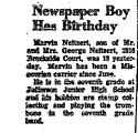 Newspaper Boy Has Birthday