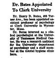 Dr. Bates Appointed to Clark...