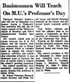 Businessmen Will Teach on M. U.'S...