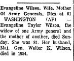 Evangeline Wilson, Wife, Mother...
