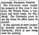 University Purchases Property