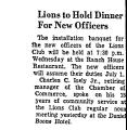 Lions to Hold Dinner for New...