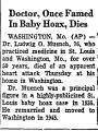 Doctor, Once Famed in Baby Hoax,...
