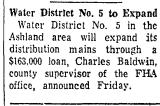 Water District No.5 to Expand