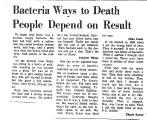 Bacteria Ways to Death People...
