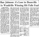 Ban Johnson A's Lose to Boonville...