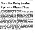 Soap Box Derby Sunday; Optimists...