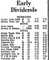 Early Dividends