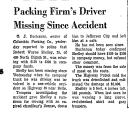 Packing Firm's Driver Missing...