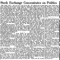 Stock Exchange Concentrates on...