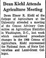 Dean Kiehl Attends Agriculture...